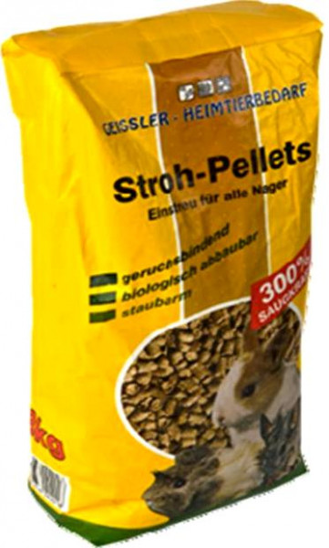 20 l = 8kg Strohpellets, Pellets, Nagerfutter, Futter