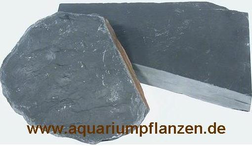 ca. 1 kg schwarze Schieferplatten, Aquarium