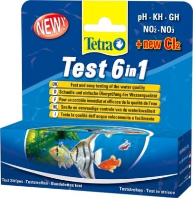 25 Streifen Tetra Test 6 in 1, Wassertest